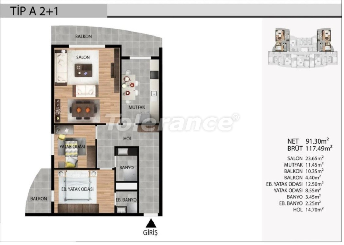 Affordable apartments in Esenyurt, Istanbul profitable for investment with installments up to 1 year - 39029 | Tolerance Homes