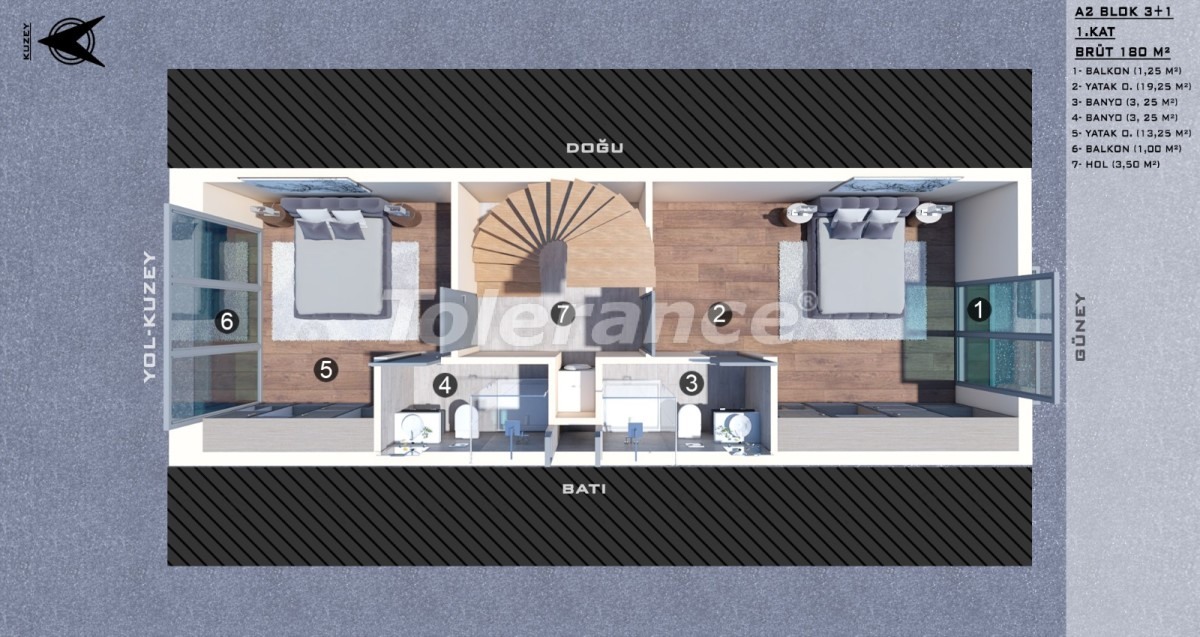 Townhouses in Kundu, Antalya with a private pool from a reliable developer - 39056 | Tolerance Homes