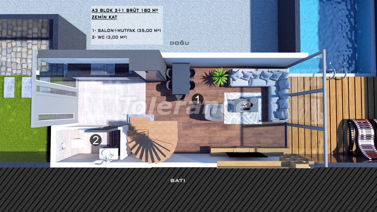 Townhouses in Kundu, Antalya with a private pool from a reliable developer - 39062 | Tolerance Homes