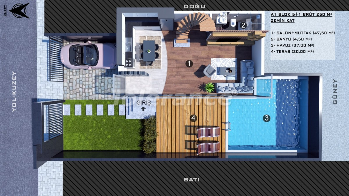 Townhouses in Kundu, Antalya with a private pool from a reliable developer - 39054 | Tolerance Homes