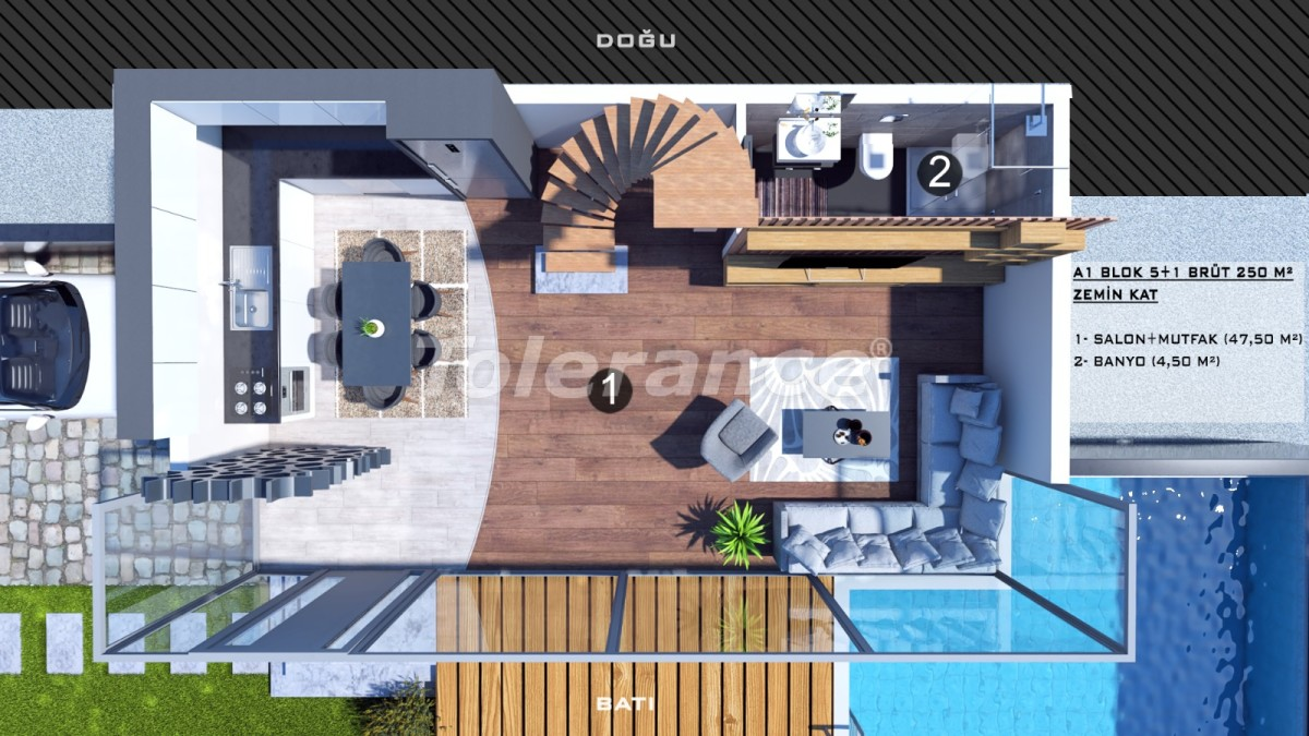 Townhouses in Kundu, Antalya with a private pool from a reliable developer - 39052 | Tolerance Homes