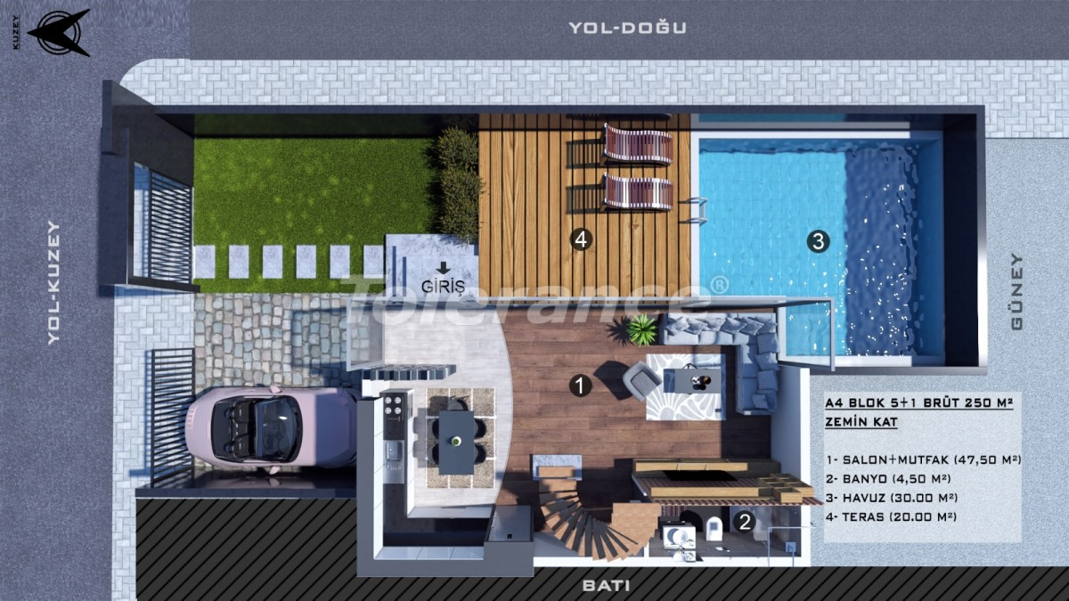 Townhouses in Kundu, Antalya with a private pool from a reliable developer - 39066 | Tolerance Homes