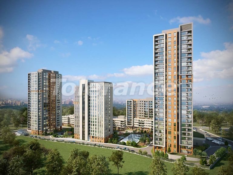 Modern complex with apartments in Bahcesehir, Istanbul by installments for 9 years from the developer - 39137   Tolerance Homes