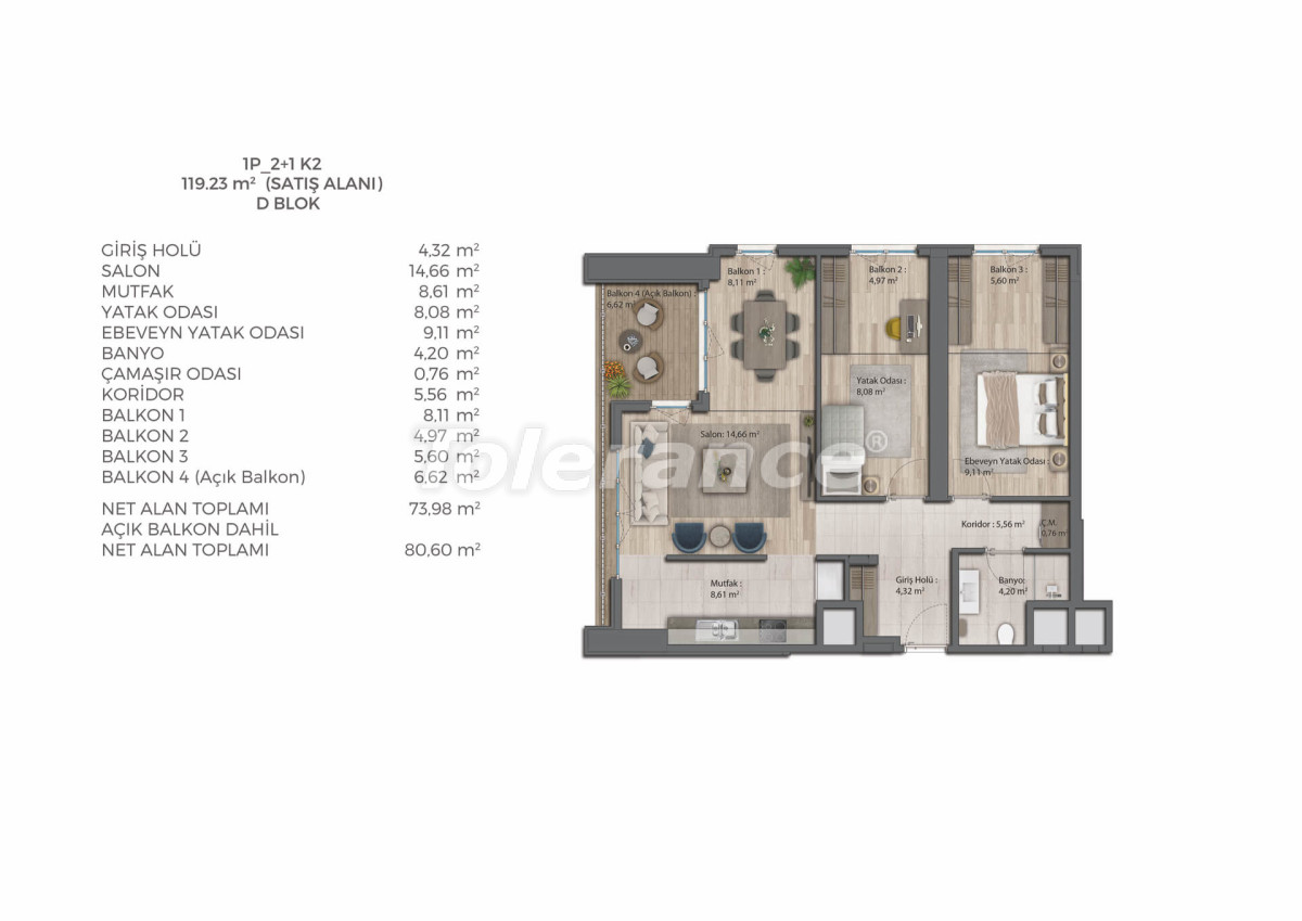 Modern complex with apartments in Bahcesehir, Istanbul by installments for 9 years from the developer - 39078   Tolerance Homes