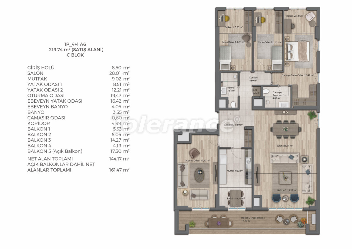 Modern complex with apartments in Bahcesehir, Istanbul by installments for 9 years from the developer - 39084   Tolerance Homes