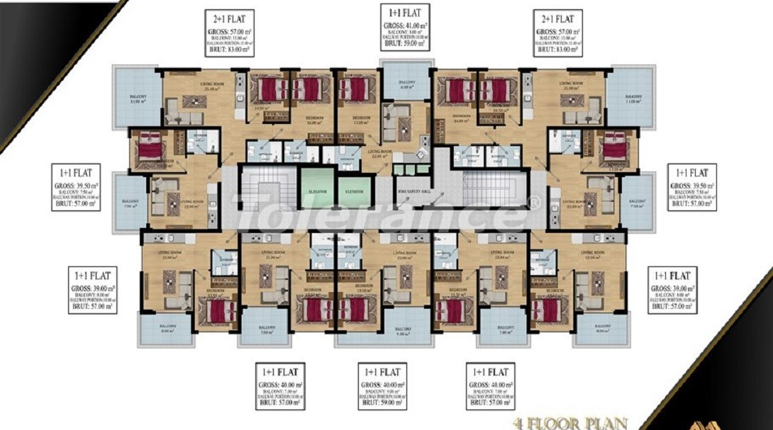 Affordable apartments in Avsallar, Alanya from the developer - 39578   Tolerance Homes
