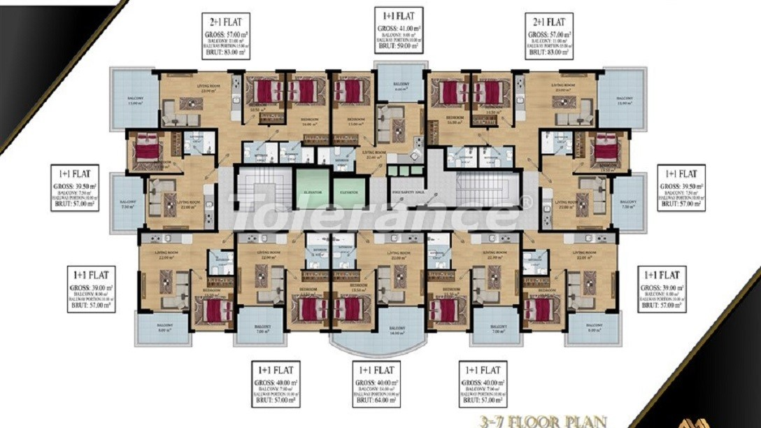 Affordable apartments in Avsallar, Alanya from the developer - 39577   Tolerance Homes