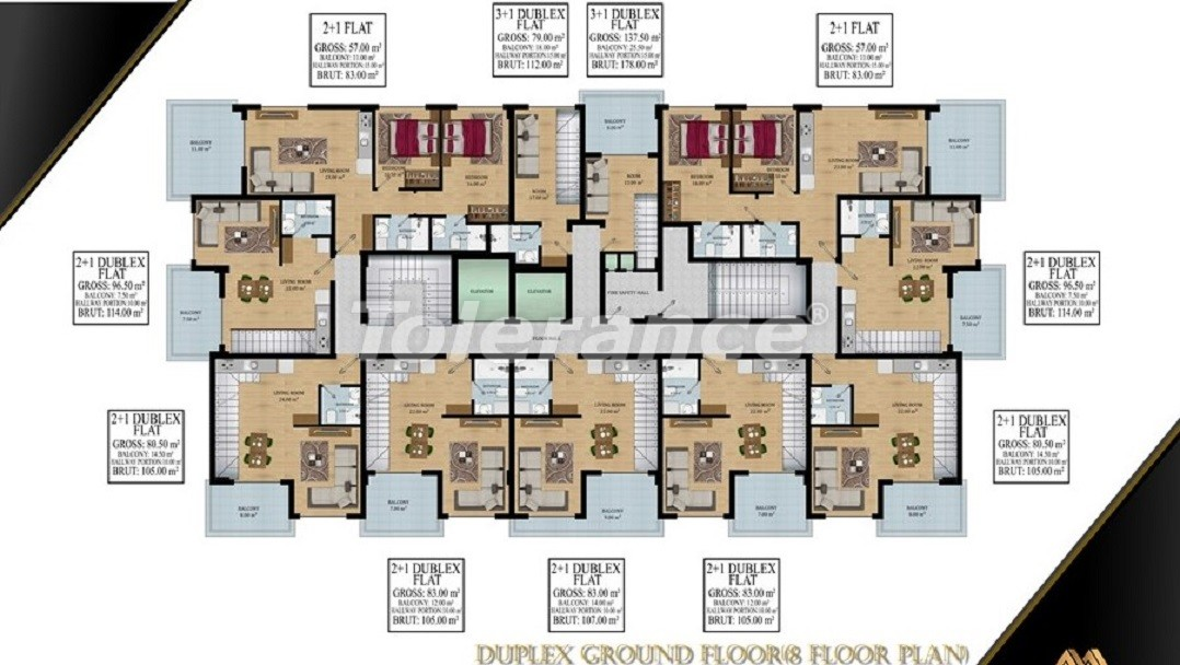 Affordable apartments in Avsallar, Alanya from the developer - 39580   Tolerance Homes