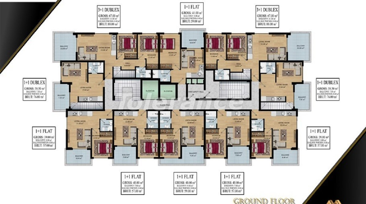 Affordable apartments in Avsallar, Alanya from the developer - 39576   Tolerance Homes
