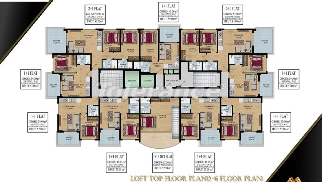 Affordable apartments in Avsallar, Alanya from the developer - 39579   Tolerance Homes