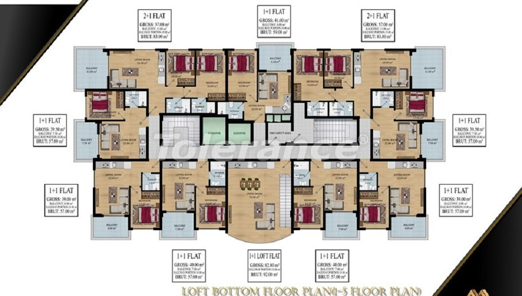 Affordable apartments in Avsallar, Alanya from the developer - 39583   Tolerance Homes
