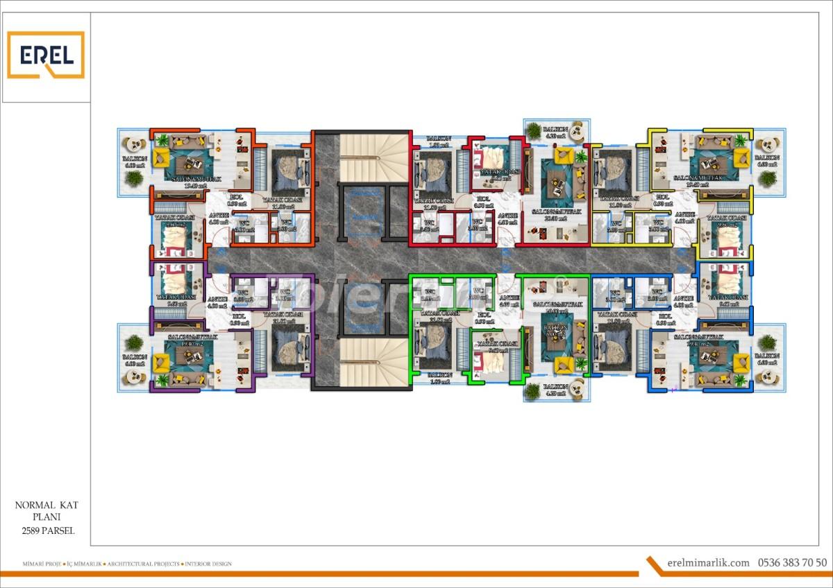 Elite apartments in Mahmutlar, Alanya in a hotel type complex - 39629 | Tolerance Homes
