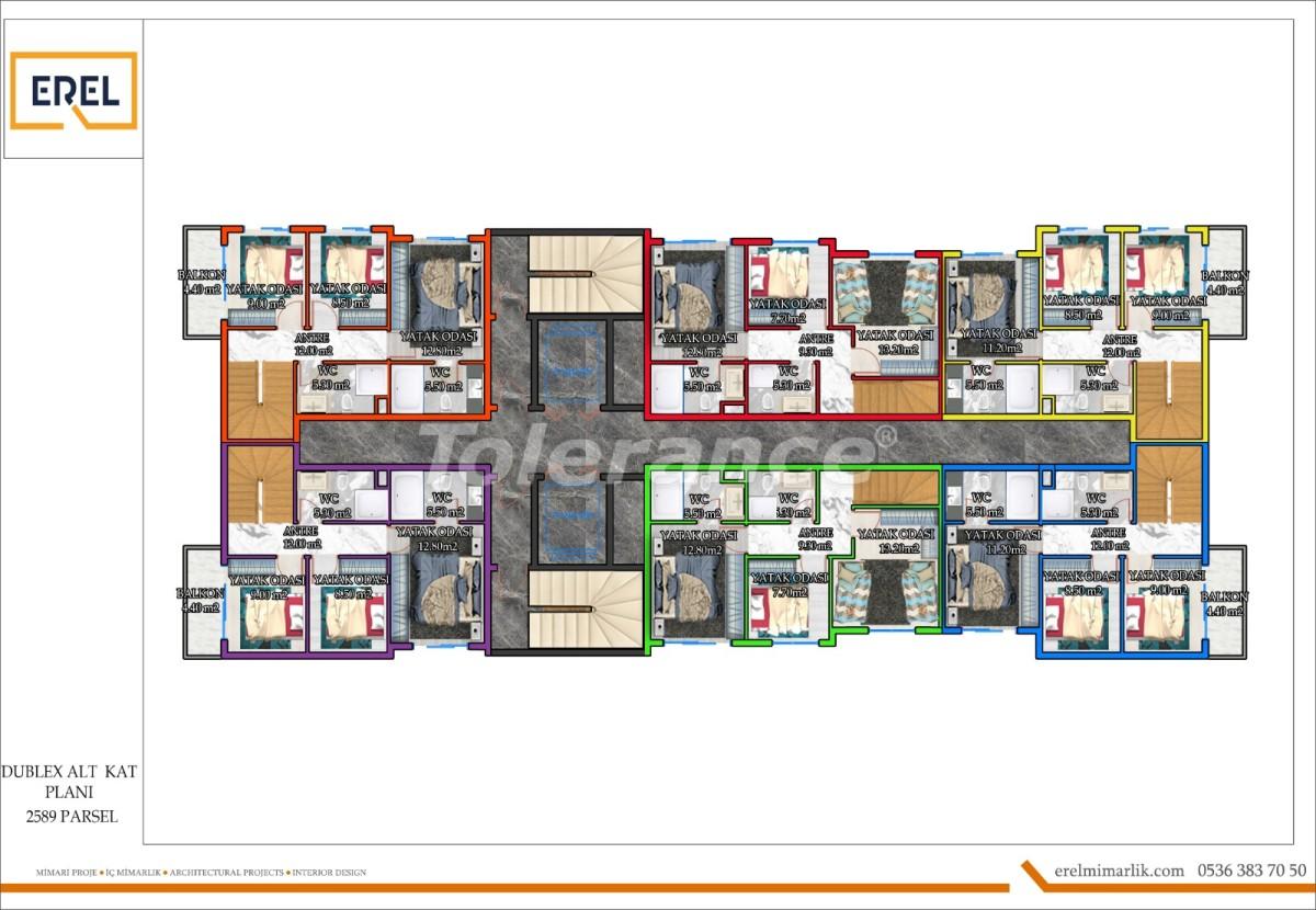 Elite apartments in Mahmutlar, Alanya in a hotel type complex - 39631 | Tolerance Homes