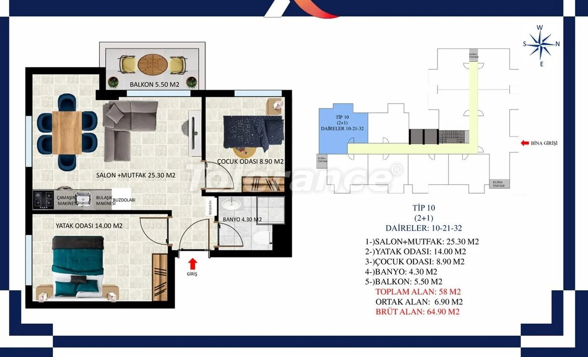 Inexpensive apartments in Oba, Alanya from the developer - 39686 | Tolerance Homes