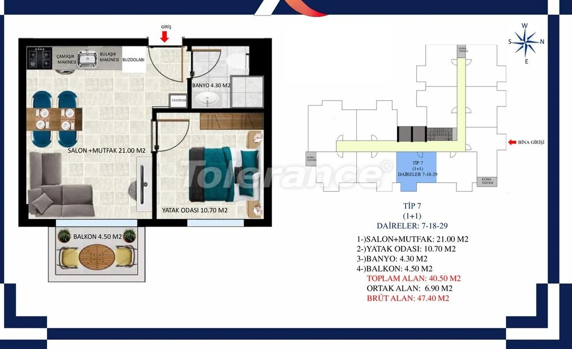 Inexpensive apartments in Oba, Alanya from the developer - 39683 | Tolerance Homes