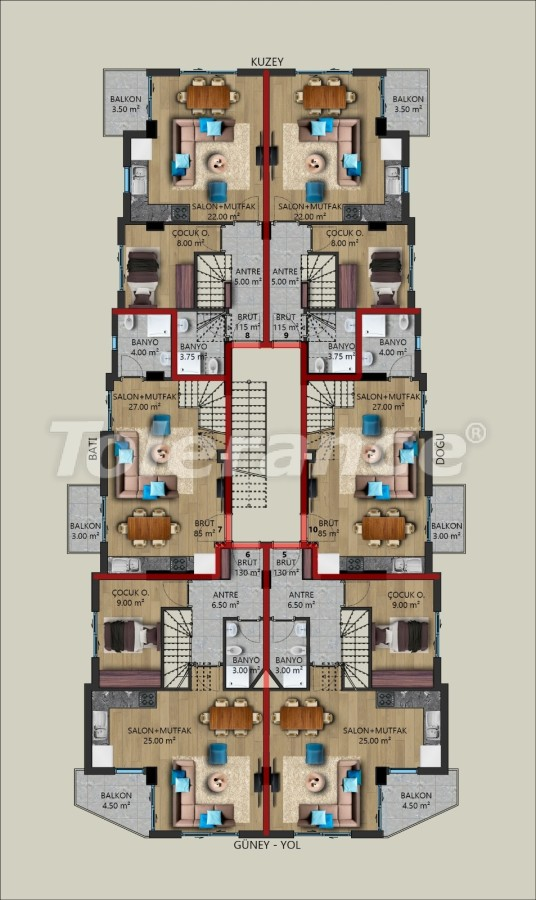 Modern apartments in Kundu, Antalya from a reliable developer, by installments - 39726   Tolerance Homes