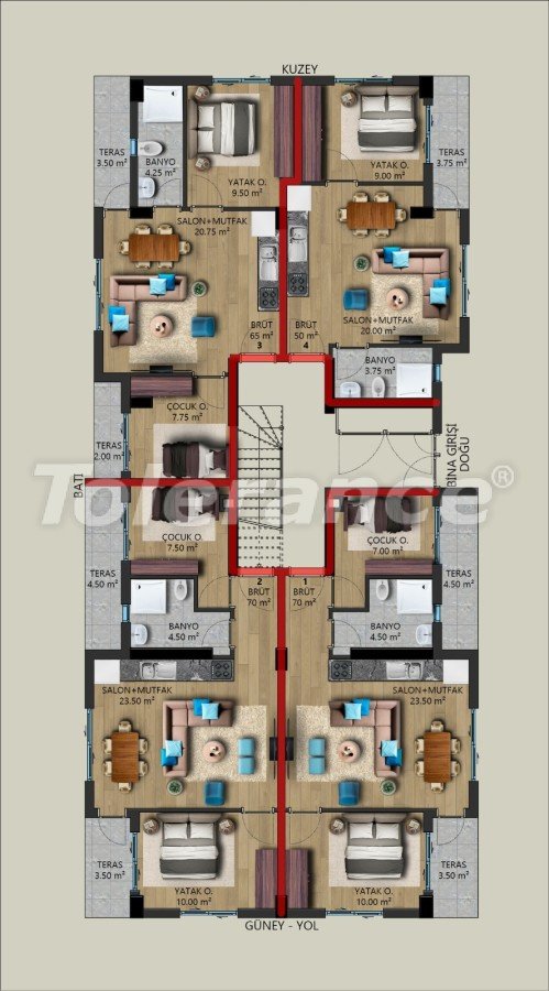 Modern apartments in Kundu, Antalya from a reliable developer, by installments - 39725   Tolerance Homes