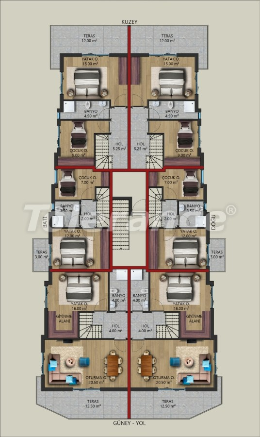 Modern apartments in Kundu, Antalya from a reliable developer, by installments - 39727   Tolerance Homes