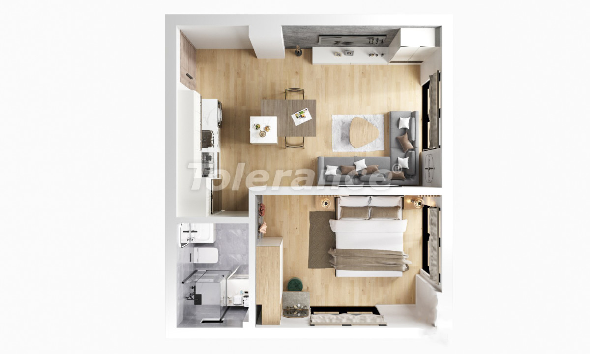 One-bedroom apartments in Kizilarik, Muratpasha from the developer - 39917 | Tolerance Homes