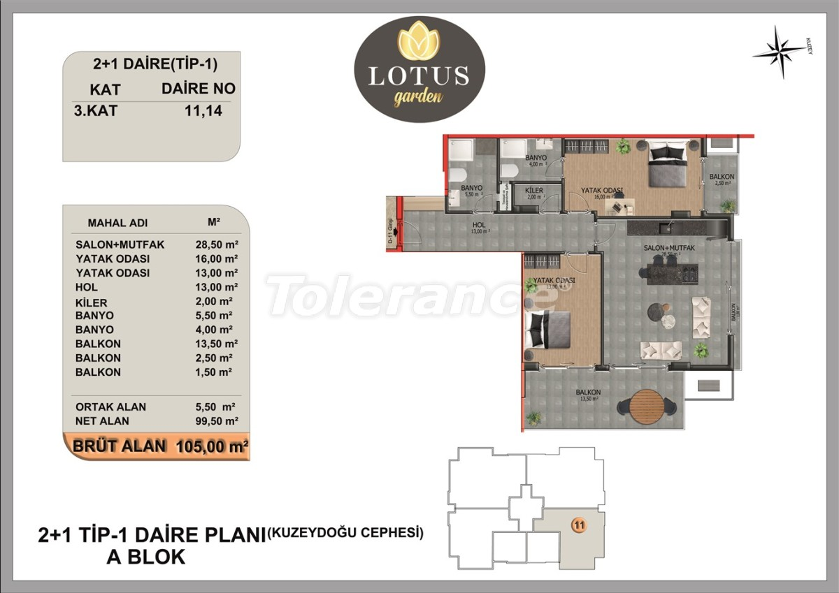 New apartments in OBA, Alanya from the developer - 40004   Tolerance Homes