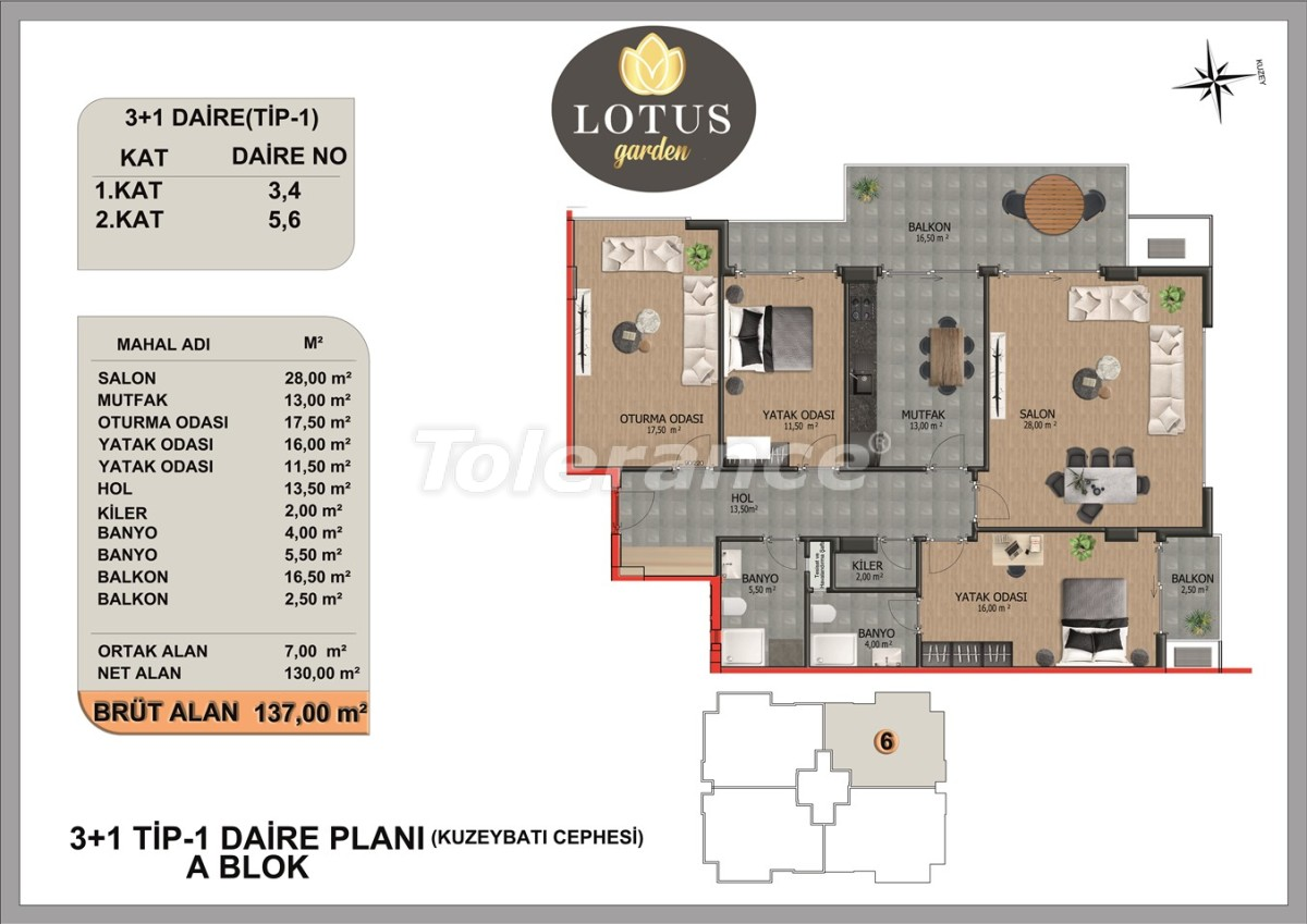 New apartments in OBA, Alanya from the developer - 40013   Tolerance Homes