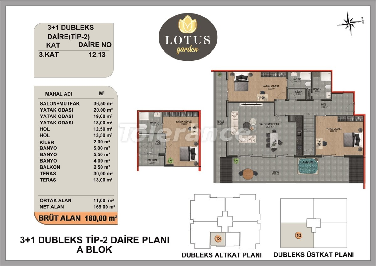 New apartments in OBA, Alanya from the developer - 40015   Tolerance Homes