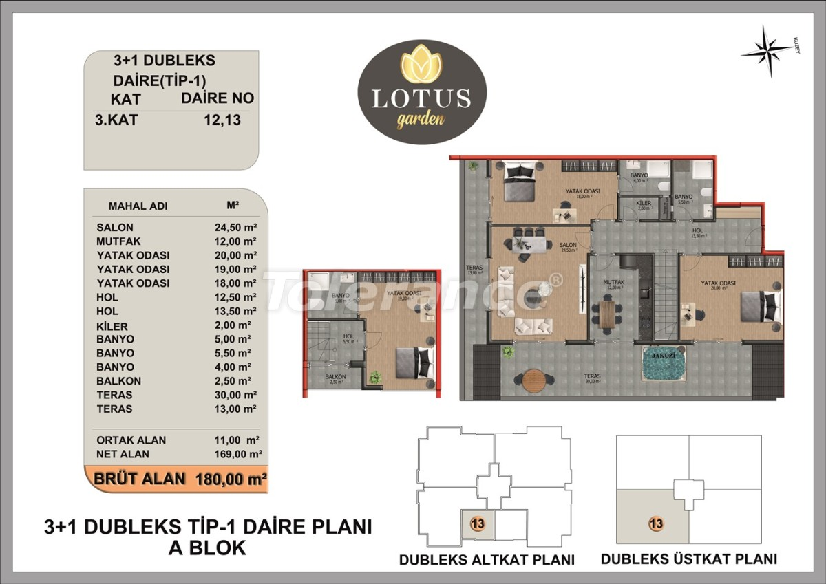 New apartments in OBA, Alanya from the developer - 40014   Tolerance Homes