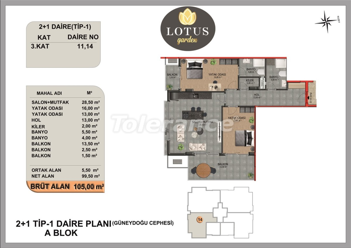 New apartments in OBA, Alanya from the developer - 40005   Tolerance Homes