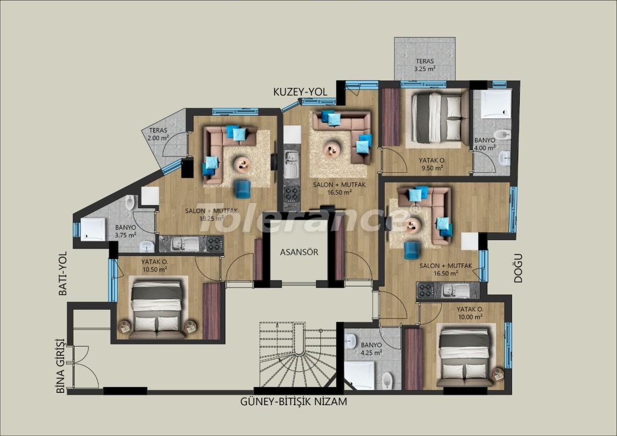 Modern apartments in Muratpasha, Antalya from the developer - 40027   Tolerance Homes