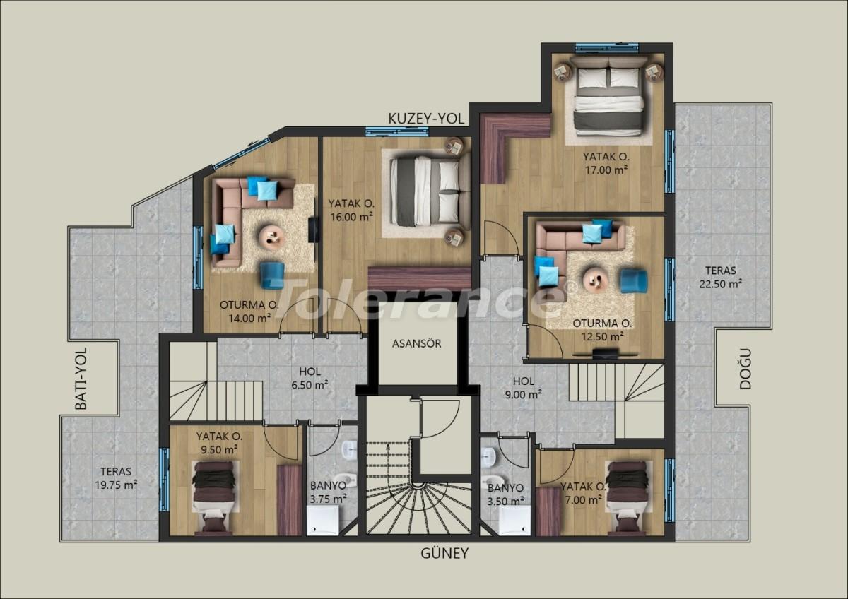Modern apartments in Muratpasha, Antalya from the developer - 40028   Tolerance Homes