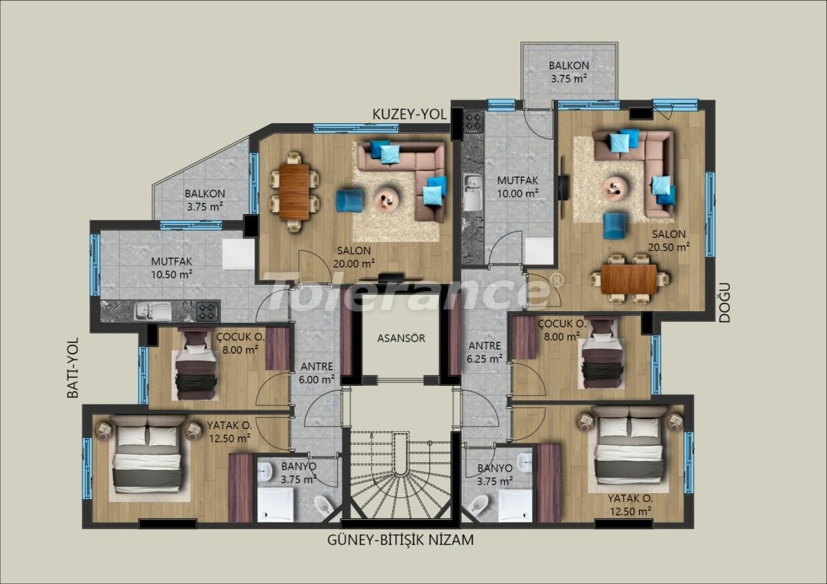 Modern apartments in Muratpasha, Antalya from the developer - 40026   Tolerance Homes