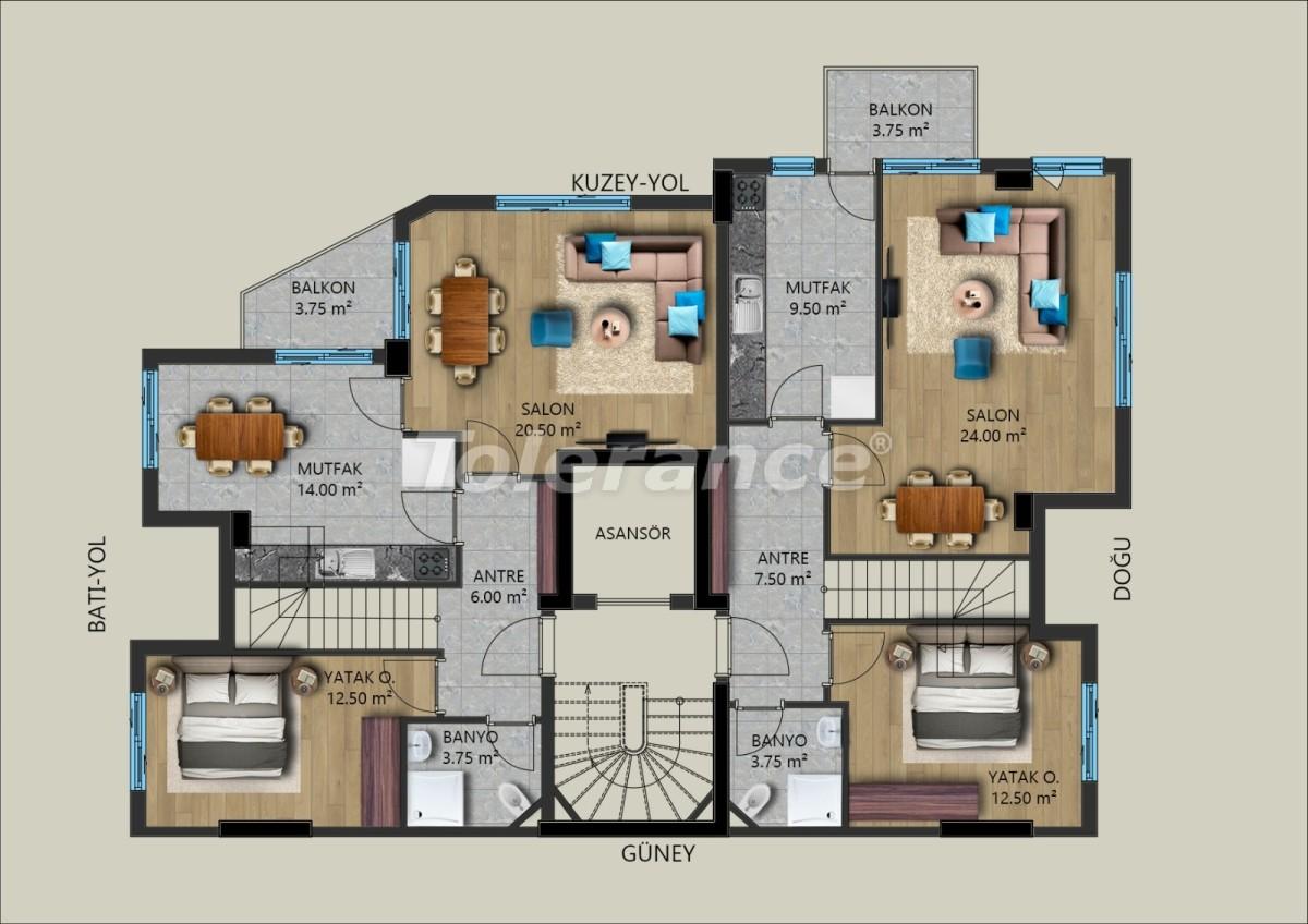 Modern apartments in Muratpasha, Antalya from the developer - 40029   Tolerance Homes