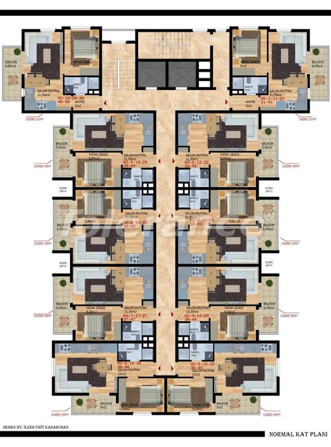 Modern apartments in Gazıpasha from the developer - 40212   Tolerance Homes