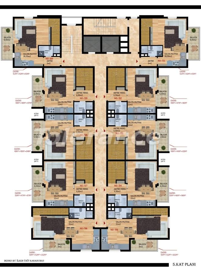 Modern apartments in Gazıpasha from the developer - 40210 | Tolerance Homes
