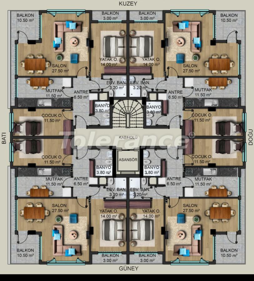 Luxurious modern apartments in Muratpasha, Antalya from the developer - 40499   Tolerance Homes