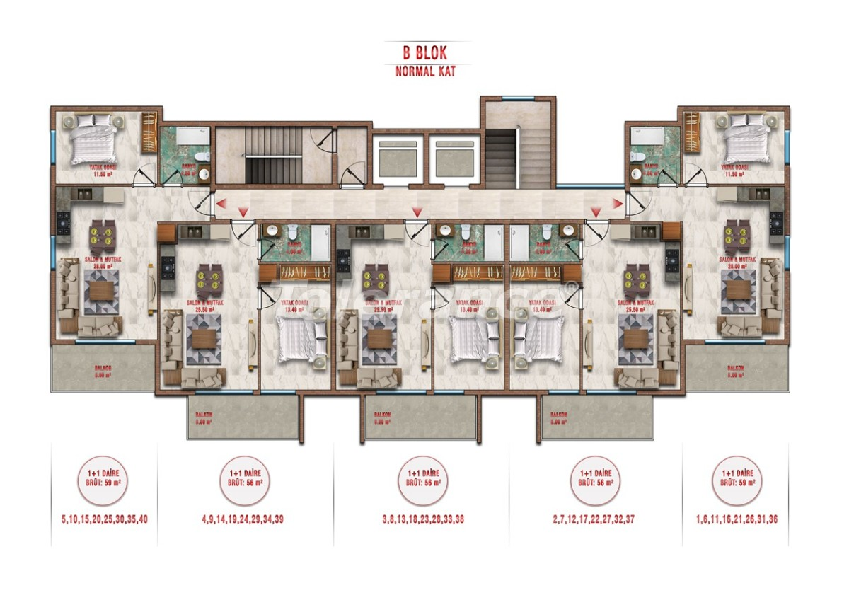 Apartments in Avsallar, Alanya profitable for investment with installments payment - 40706 | Tolerance Homes
