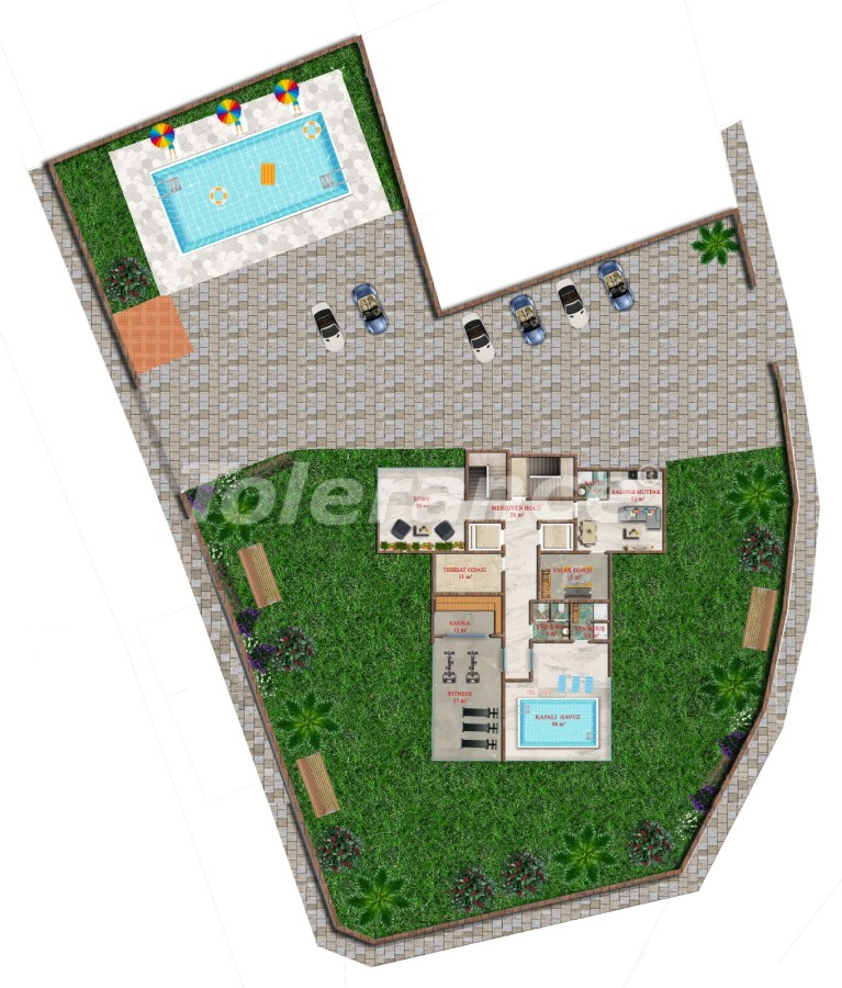 Affordable one-bedroom apartments in Avsallar, Alanya from the developer - 40747 | Tolerance Homes