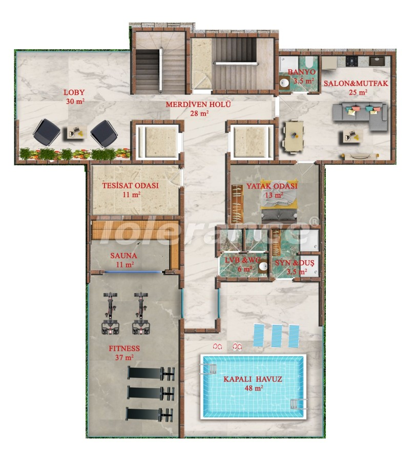 Affordable one-bedroom apartments in Avsallar, Alanya from the developer - 40746 | Tolerance Homes