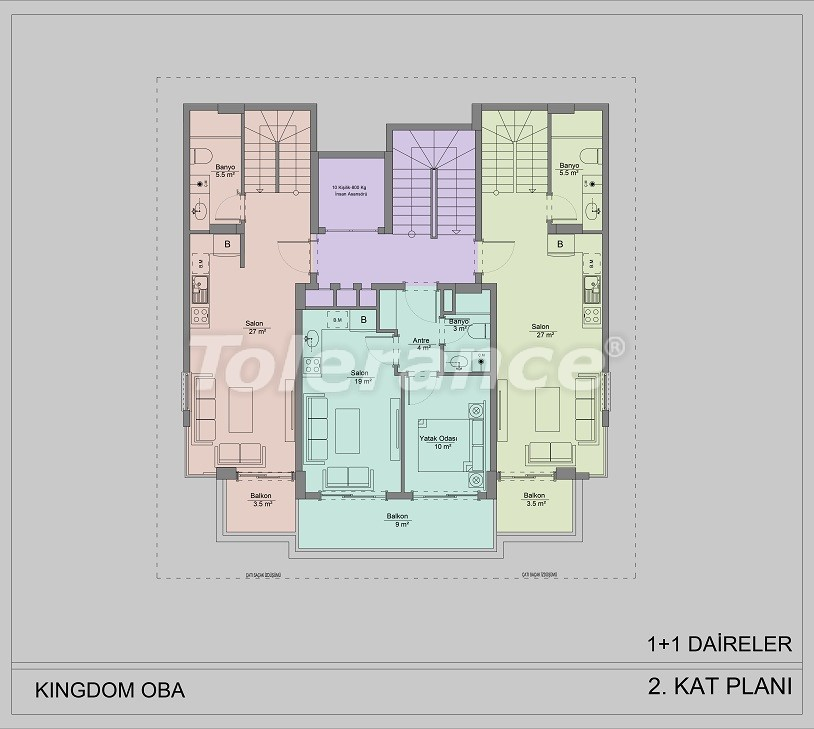 Apartments in Oba, Alanya by installments - 40830   Tolerance Homes