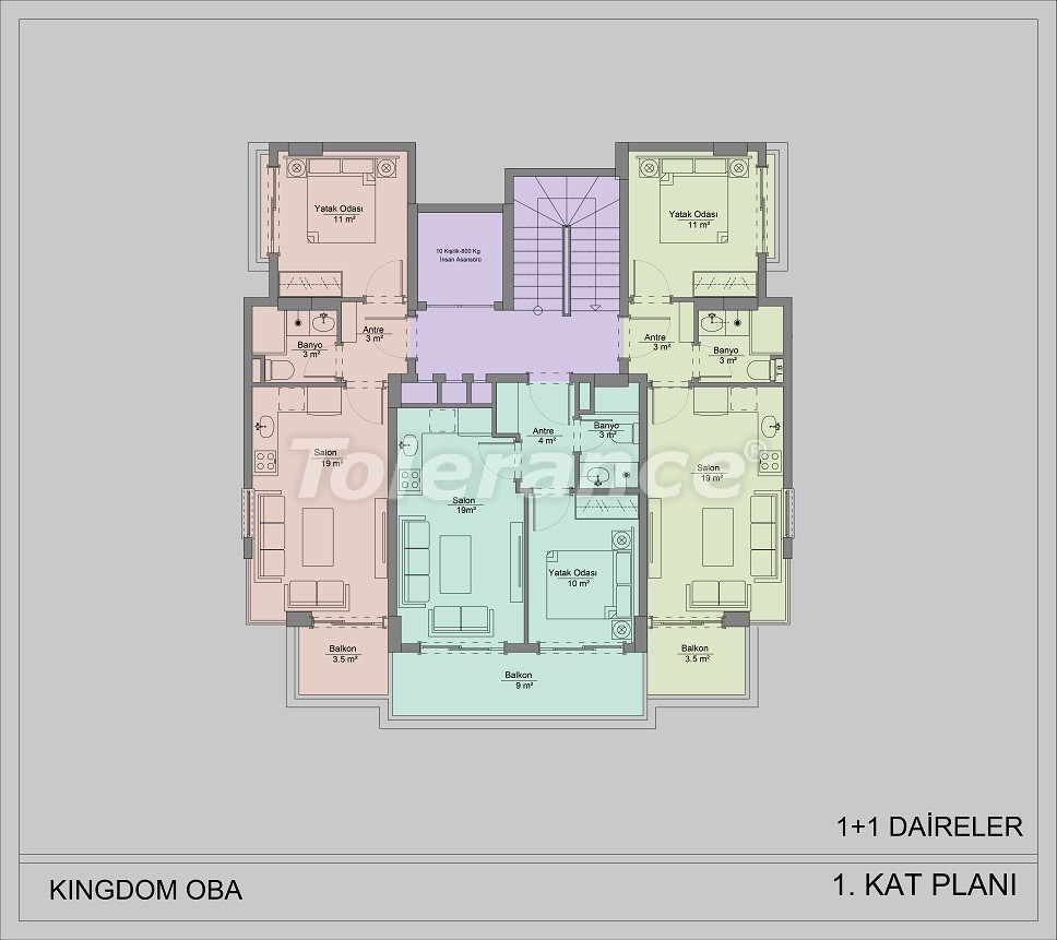 Apartments in Oba, Alanya by installments - 40829   Tolerance Homes