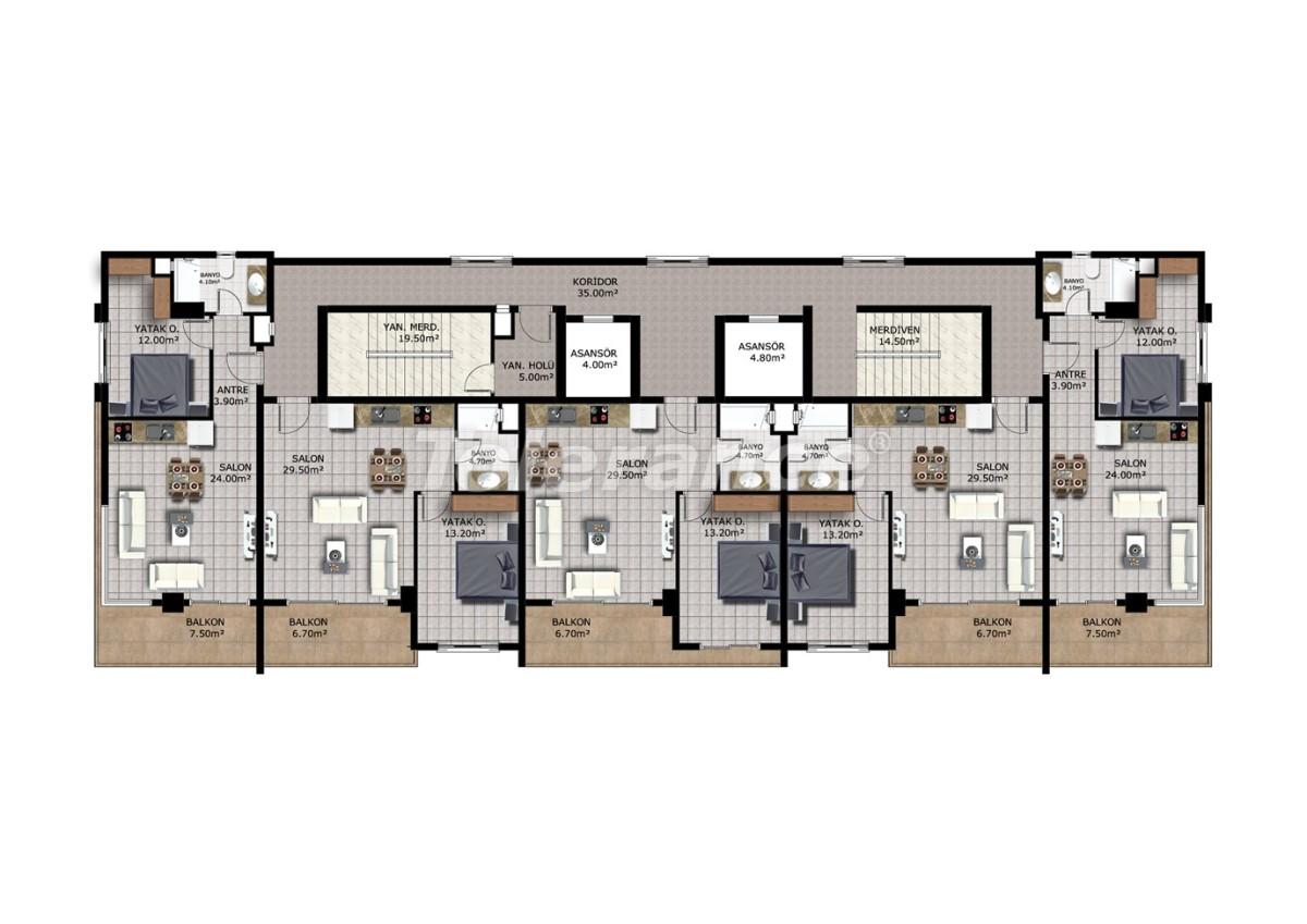 Affordable apartments in Mahmutlar, Alanya - 40910   Tolerance Homes