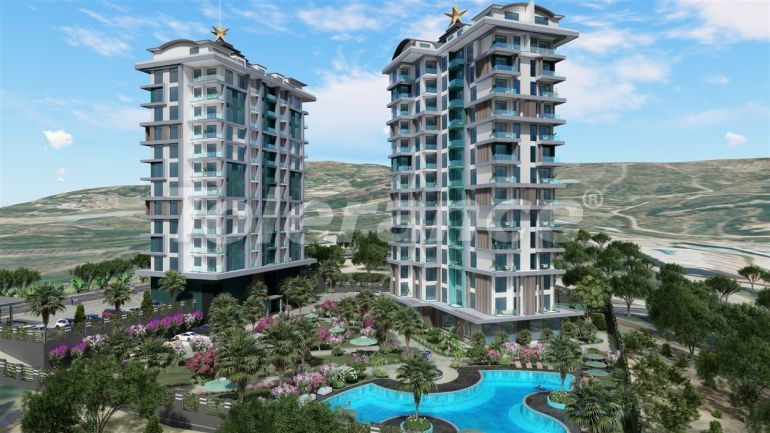 Modern apartments in Kargicak, Alanya by installments from the developer in a hotel-type complex - 41153 | Tolerance Homes
