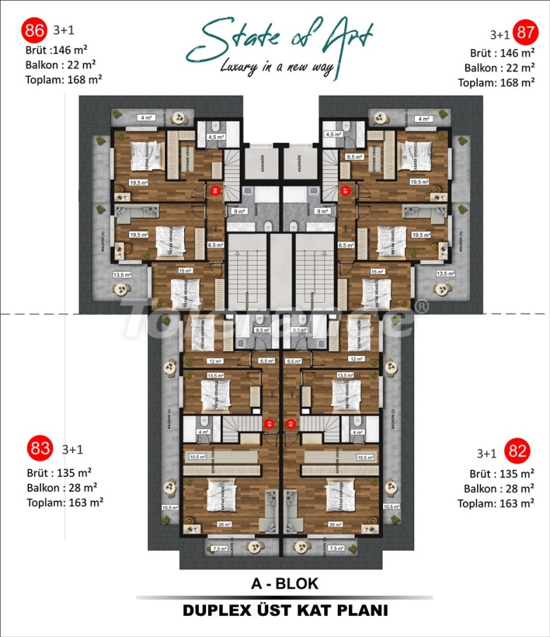 Modern apartments in Kargicak, Alanya by installments from the developer in a hotel-type complex - 41174 | Tolerance Homes