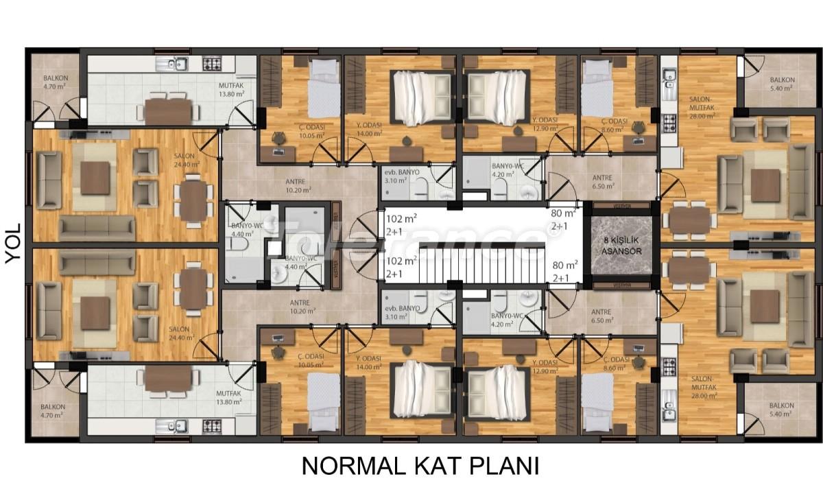 Modern apartments in Muratpaşa, Antalya from the developer - 42288   Tolerance Homes