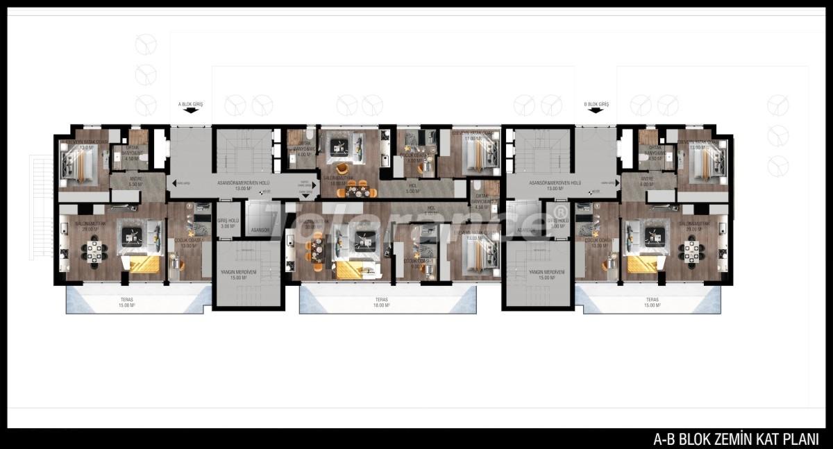 Modern apartments in Unсalı, Konyaaltı from the developer - 42498   Tolerance Homes