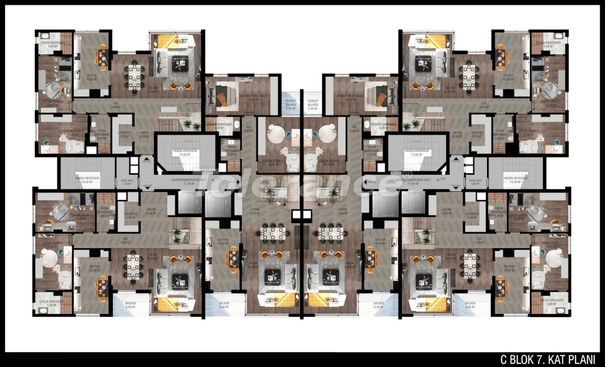 Modern apartments in Unсalı, Konyaaltı from the developer - 42501   Tolerance Homes