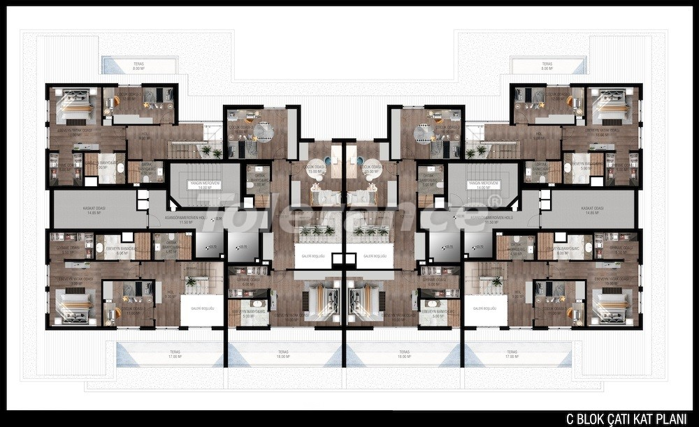 Modern apartments in Unсalı, Konyaaltı from the developer - 42502   Tolerance Homes