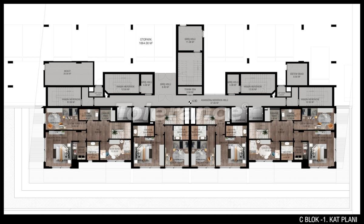 Modern apartments in Unсalı, Konyaaltı from the developer - 42499   Tolerance Homes