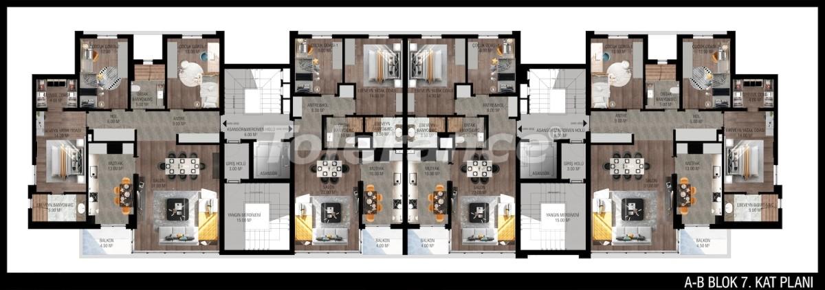 Modern apartments in Unсalı, Konyaaltı from the developer - 42505   Tolerance Homes