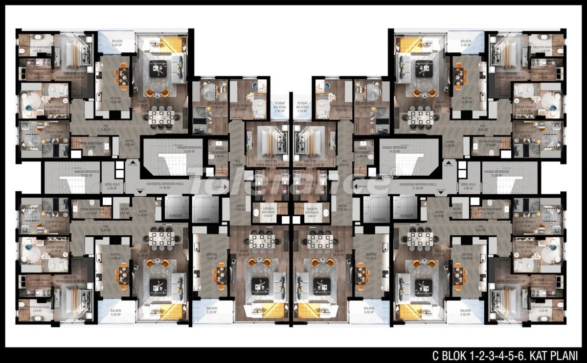 Modern apartments in Unсalı, Konyaaltı from the developer - 42500   Tolerance Homes